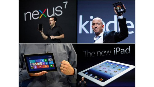 Tablettes Low-Cost : iPad Vs Nexus 7 Vs Surface Vs Kindle Fire