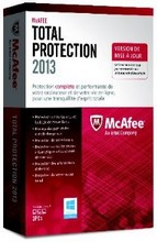 MCAFEE TOTAL PROTECTION 2013 : TEST, AVIS & PRIX
