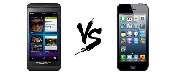 Duel smartphones 2013 : BlackBerry Z10 Vs. iPhone 5